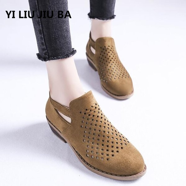 Designer Dress Shoes 2019 Women Breathable Casual Women Low Heel Ladies Slip On Zipper Women Plus Size 35-43 Zapatos Mujer **098