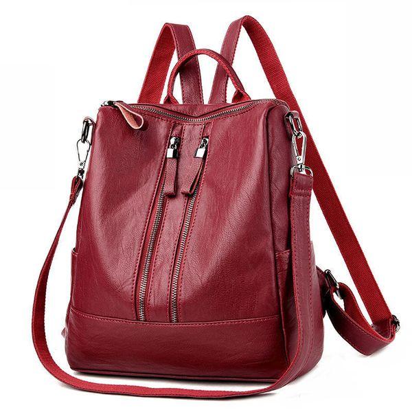 Brand Vintage Women Backpack Soft Fashion School Backpacks For Teenage Girls Casual Large Capacity Shoulder Bags Travel Bag
