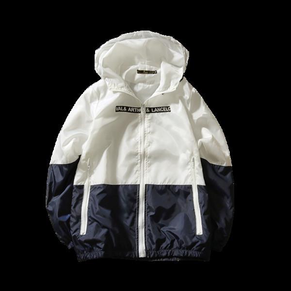 Chaqueta de primavera y otoño piloto chaqueta con capucha moda para hombre casual costura delgada abrigo de gran tamaño S-5XL hombres cremallera delgada