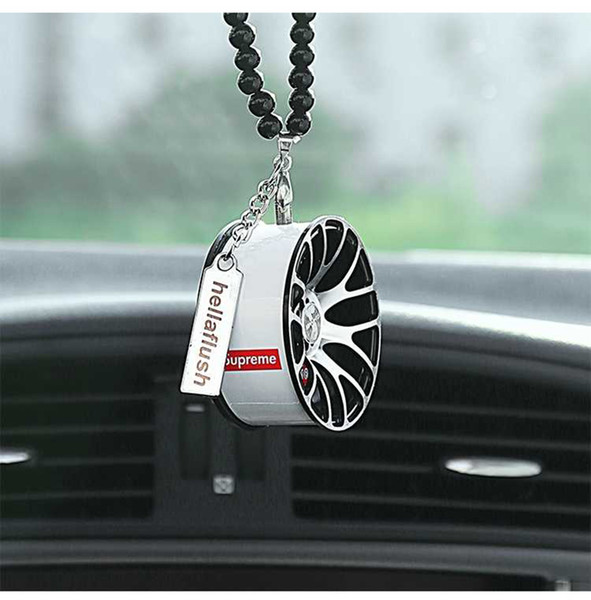 5 Colors Metal Car wheel hanging hot sale car hanging personality jewelry fashion pendant high-end Auto Sports Cars Wheel Pendant Hangs