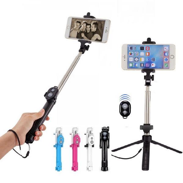 Handstativ Selfie Stick 2 in 1 ausziehbares Bluetooth Selfie Stick Stativ für iPhone XR 8 7 6S 6Plus Samsung Huawei Android