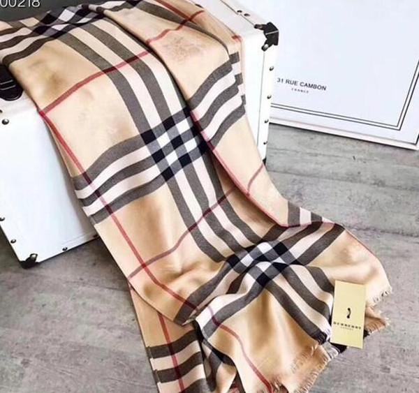 Nouveau Hommes Femmes De Luxe Écharpe Marque Designer Cachemire Classique Coton Écharpe 180x70 cm Chaud Doux De Mode Châle Écharpes