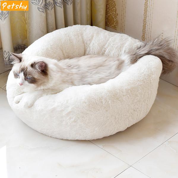 Petshy Sevimli Küçük Pet Kedi Yuva Evi Yavru Köpek Güz Kış Sıcak Yumuşak Peluş Uyku Mağara Yatak Köpek Uyku Tulumu Kennel Yastık