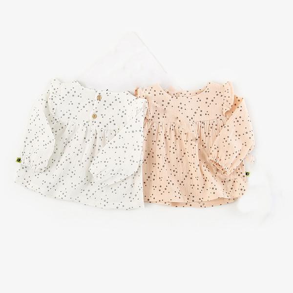 Primavera 2019 camisa de niña linda estrella pequeña moda ropa de niñas