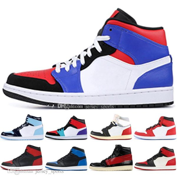 b8248886 In Stock 1 OG Banned Bred Toe Spider-Man UNC 1s top 3 Mens Basketball