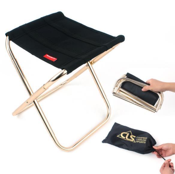 Acheter Chaise De Camping Pliante En Plein Air 7075 En Alliage D Aluminium De Pêche De Camping Tabouret De Bbq Tabouret Pliant De 8 55 Du Wss159