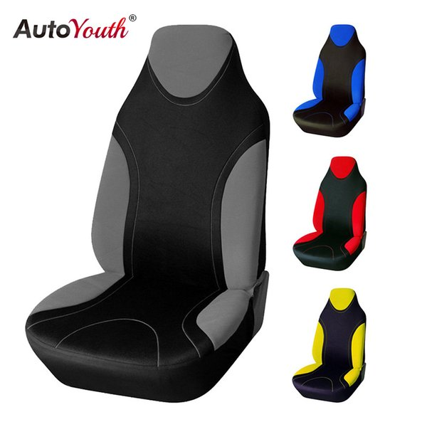 top popular AUTOYOUTH Sports Style High Back Bucket Car Seat Cover Universal Fits Most Auto Interior Accessories Seat Covers 4 Colours 2019