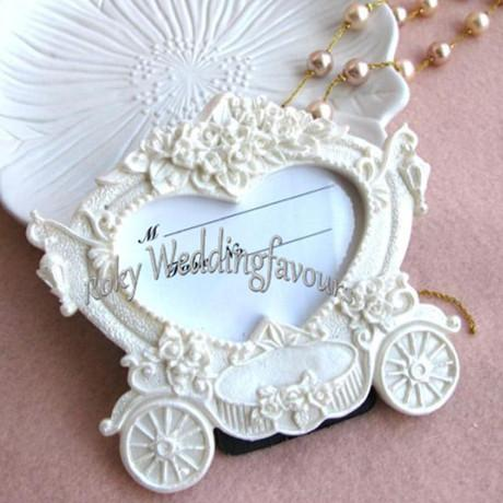 Free Shipping !Fairy Theme Carriage Photo Frame ,Place Card Holder Favors ,Party Decoration Gifts ,Table Setting Great Items
