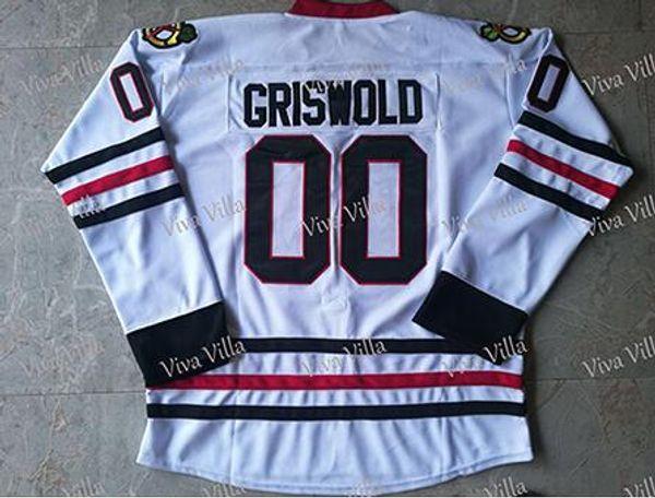 Clark Griswold # 00 Maillot de Hockey sur Film pour Les Vacances de No/ël avec Maillot de Hockey sur Glace pour Hommes