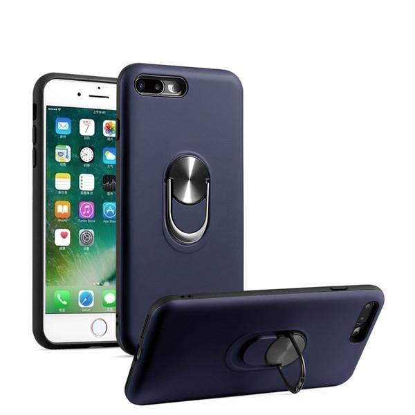 Armadura híbrida case para iphone xs max xr x 360 anel de giro kickstand car hold mount magnética case para iphone 7 8 plus