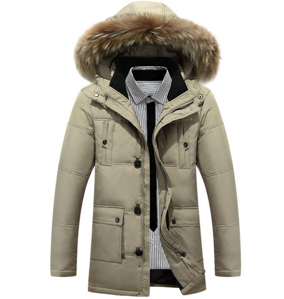 2019 New Men's Winter Jacket Keep Warm Goose Down Coats Parka Soft shell fur collar Hats Thicken outdoor outerwear Designer jackets