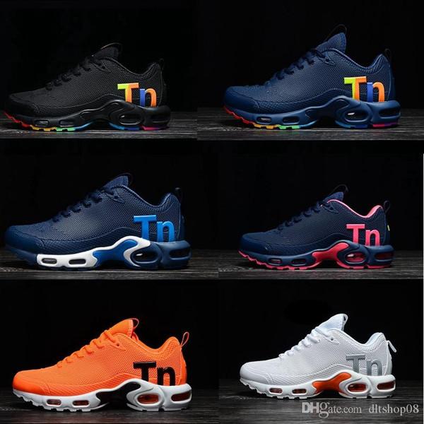 Persian Violet TN Plus Running Shoes Men Women Designer Shoes 2019 Photo Blue Bumblebee Sunset White Black Sport Sneakers 7-11.5