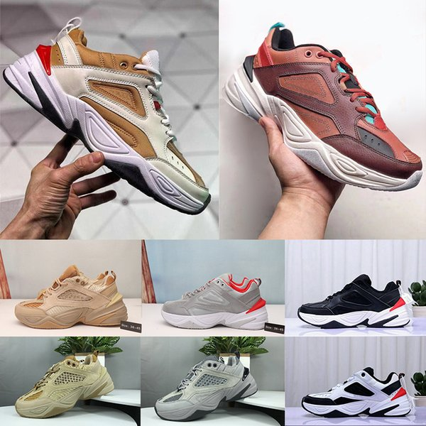 2019 Designer Old Men Air M2K Tekno V2 Mens Sport Running Shoes Womens Sneakers Athletic Trainers Professional Outdoor Shoes Size US 5.5-11