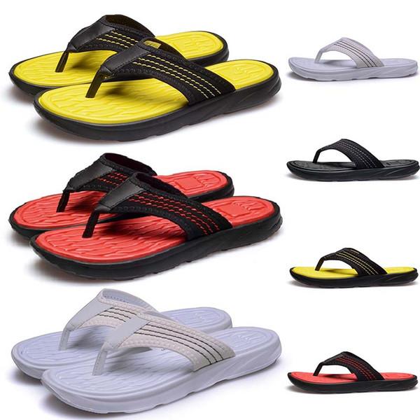 Günstige Marke Flip Flops Designer Slipper Gear Bottoms Hotel Beach Herren Sandalen gestreiften kausal Rutschfeste Sommer Scuffs huaraches rutschen 40-44