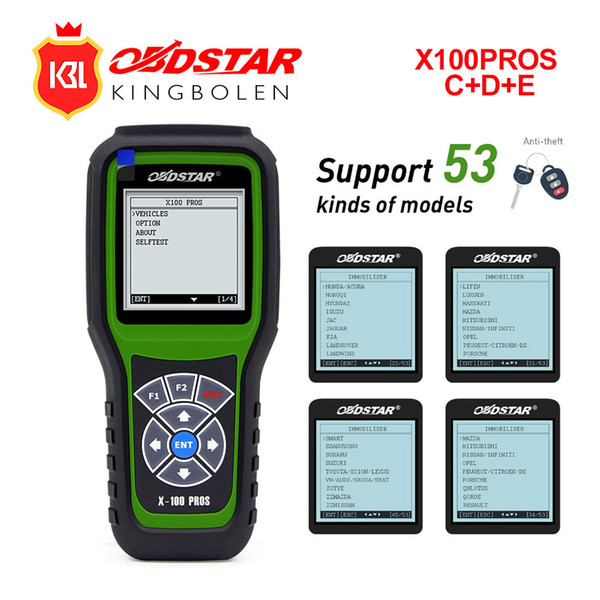OBDSTAR X100 PROS C+D+E Auto Key Programmer FOR EEprom Adapter+IMMO pin codereader +Odometer Adjustment Replace X-100 Pro