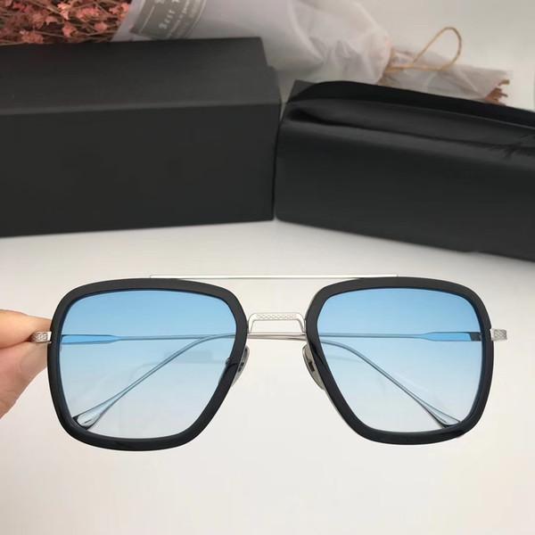 Progressive blue lens