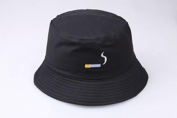 2019 Hot Sale Cigarette Fisherman's Hat Women Tidy Korean Version Embroidery Pot Cap Men Street Personality UV Protetion