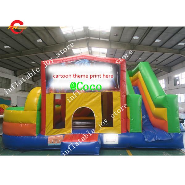 conditions maritimes / cnf gratuites, château de saut gonflable commercial de 7x6m, parcours de combattant de trampoline d'enfants de maison de rebond
