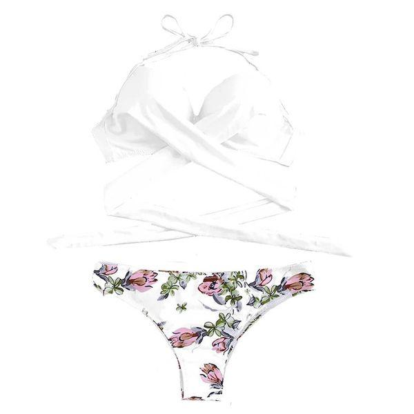 Fashion Sexy Women Beachsuit Cross straps split Bikini Padded monokini Swimwear Bandage Solid Bathing Beachwear bikini 4sg