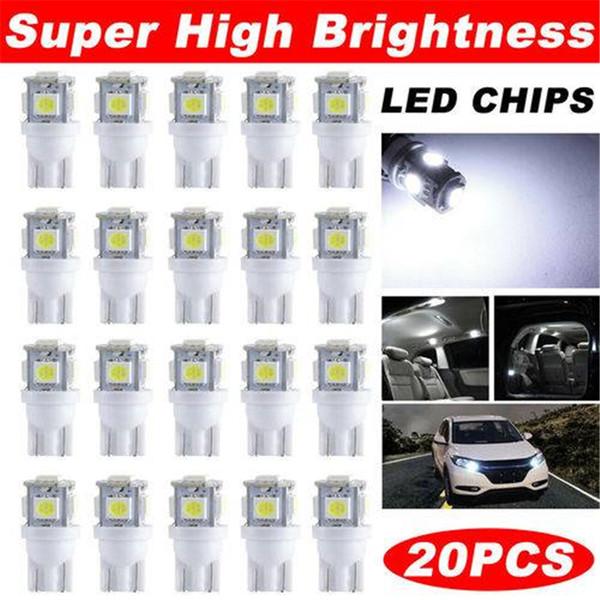 США фондовый T10 5050 светодиодные лампы 5-SMD W5W Клин лампа для чтения 12V интерьер автомобиля купол лампы любезно багажник приборной панели парковка лампы