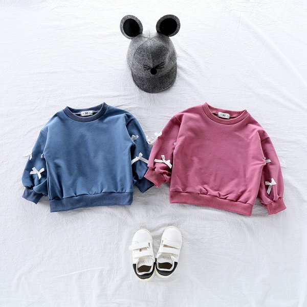 Spring Toddler Baby Kids Girl Hoodies Cartoon 3D Bow T Shirt Hoody Sweatshirt Tops Clothes Roupa Infantil Toddler Girl Shirts