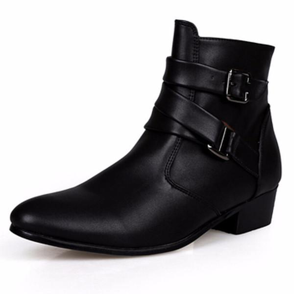 Fashion Men Shoes Soft Leather Autumn Boots Men Waterproof Warm Shoes Men Comfortable Ankle Boots Man HH-175