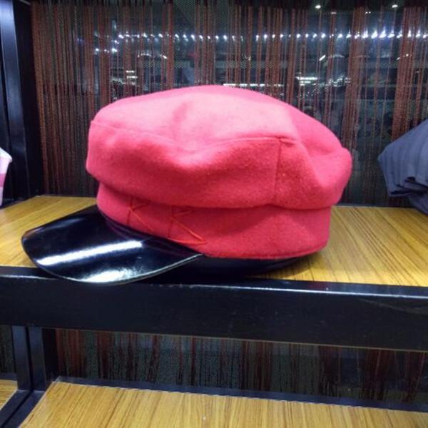 Fashion-Cap Women Embroidery Military wool baker boy caps British Classic Female Gatsby Flat Hats