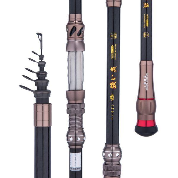 Ultra-light Rock Fishing Rod Superhard Short Pocket fishing High Carbon Fishing Stick Telescopic Pole Cane 1.8m 2.1m 2.4m 2.7m 3.0m 3.6m