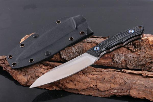 CHE Happy D2 4,7 Zoll gerade feststehende Klinge Messer taktische Selbstverteidigung Edc Messer Sammlung Jagdmesser Weihnachtsgeschenk 05019