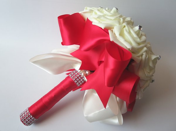 Red and Cream Ribbon
