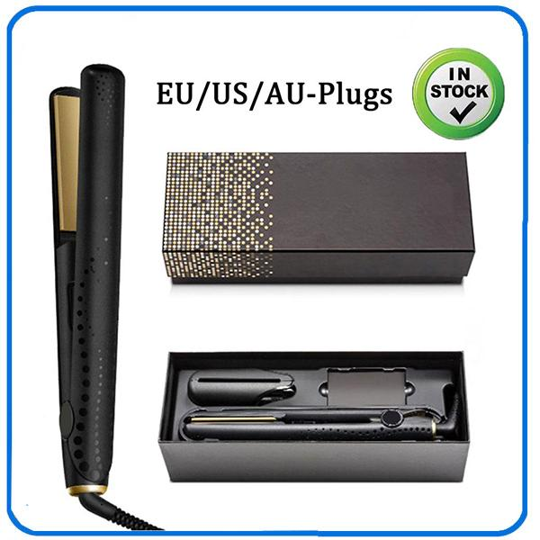 best selling In stock!!! V Gold Max Hair Straightener Classic Professional styler Fast Hair Straighteners Iron Hair StylingTool Top Quality