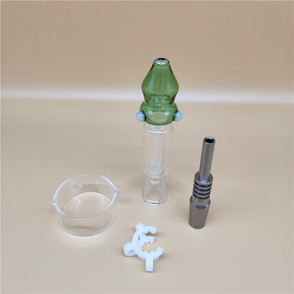 Новая версия OD 1,0 дюйма Нектар Collectorxx Подходит с 14мм Titanium гвоздя пластично разъем стеклянный шар для соломы стеклянные бонги WW