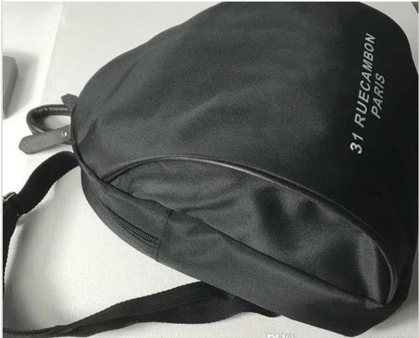 2019 classic Brand C symbol black Backpack Fashion Woman handbag Retro Backpack Outdoor sports backpacks White logo Shopping bag VIP Gift