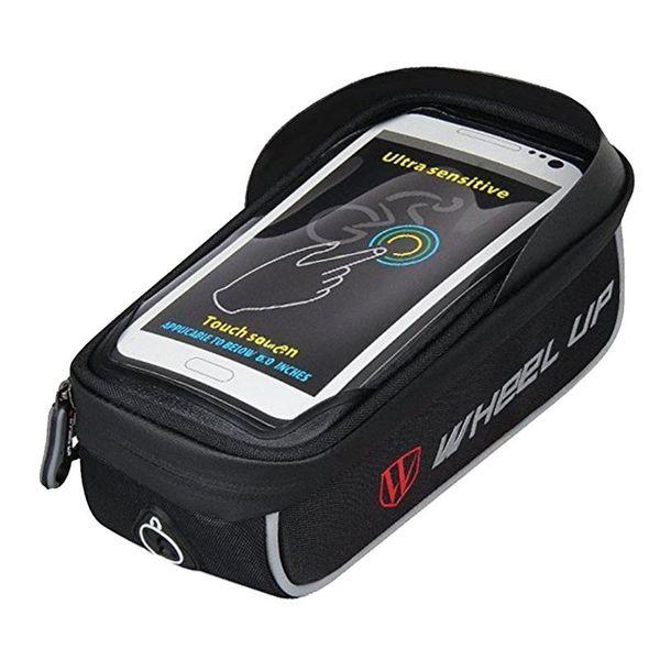 Cycling Bike Top Tube Handlebar Bag Phone Mount Holder Touch Screen Bicycle MTB Bag for iPhone X 8 7 7Plus 6 6plus Samsung #688891
