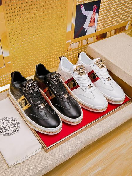 Acheter Chaussures De Marée Des Hommes Sauvages 2019a, Chaussures Basses En Cuir Pour Le Sport Et Les Loisirs Confortables, Emballage D'origine Pour