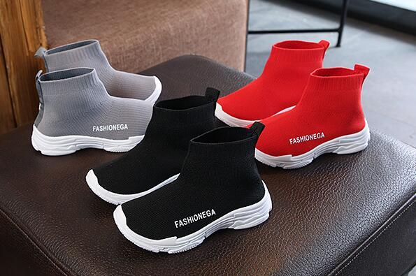 best selling children's socks shoes 2018 spring autumn fashion casual kids sneakers boys and girls baby knitted breathable shoes