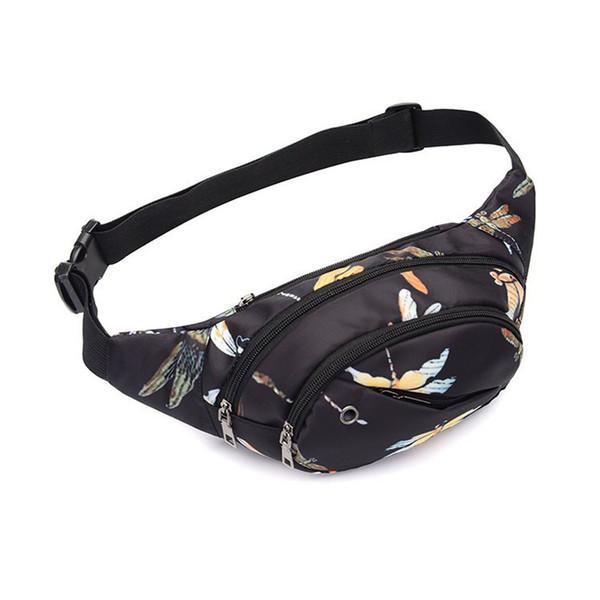 Kadınlar Erkekler Fanny Paketi Stil Bum Çanta Unicorn Para Belt için Unisex Baskılı Bel Paketi Dropshipping için Cep Telefonu Seyahat Çantası