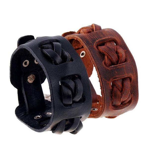 18 styles Restore Ancient Ways Weave Cowhide Suit Ornaments DIY Genuine Leather Bracelet pksp8-10