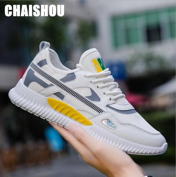 2019 men's sneakers colorblock thick foundation outdoor breathable mesh light dad shoes trainer chaussure mocassin homme d-167