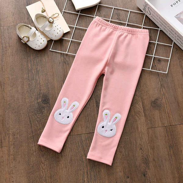 good quality kids girls pants spring autumn brand rabbit printed leggings 2019 new children girls cute striped skinny baby leggings