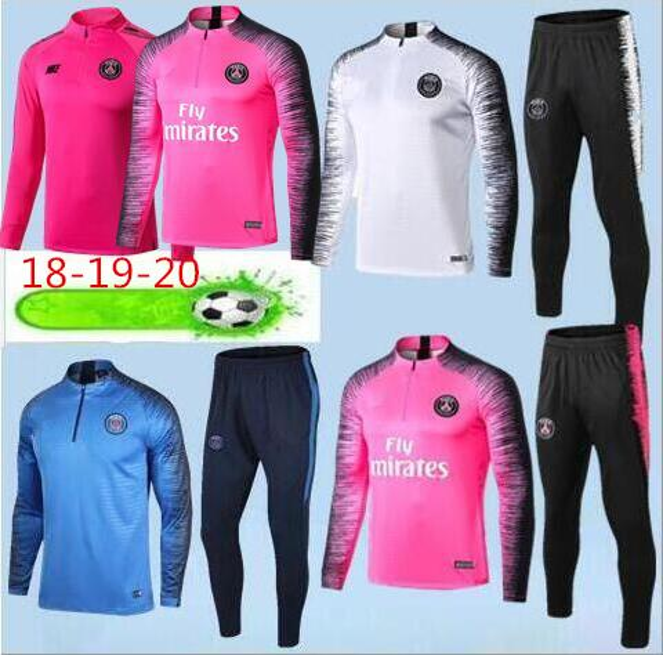 Yeni varış 2019 PSG maillot de ayak eşofman Survetement18 / 19/20 Paris Aj psg futbol eğitimi takım MBAPPE ceket spor Chándal