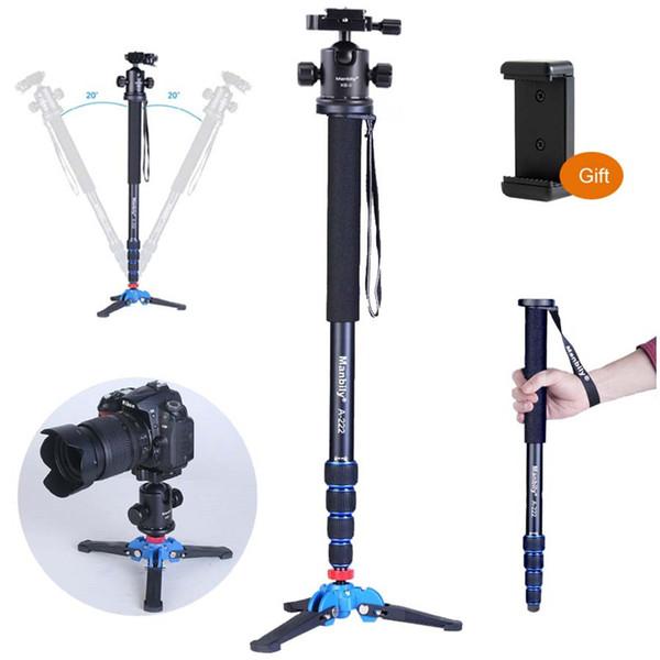 Kugelkopf Manily A-222 Kamera Tragbare Professionelle DSLR Aluminium Einbeinstativ M1 Stativfuß KB-0 Stativ-Kugelköpfe, Einbeinstativ, max. 65