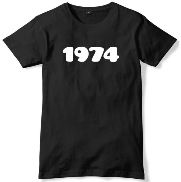 Maglietta unisex di Anniversary di anniversario di anni del 1974 Maglietta unisex divertente di Slogan Un trasporto libero Unisex Maglietta casuale superiore