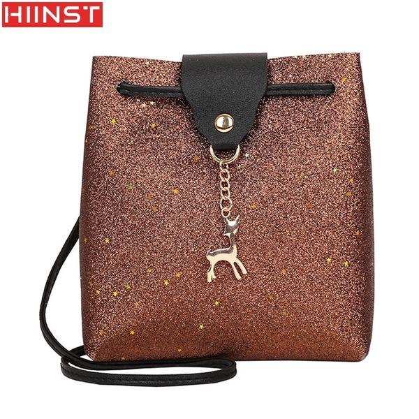 Cheap Best Womens Sequins Leather Crossbody Bag Small Deer Shoulder Bags Messenger Bag Designer Purses Handbags MAY14