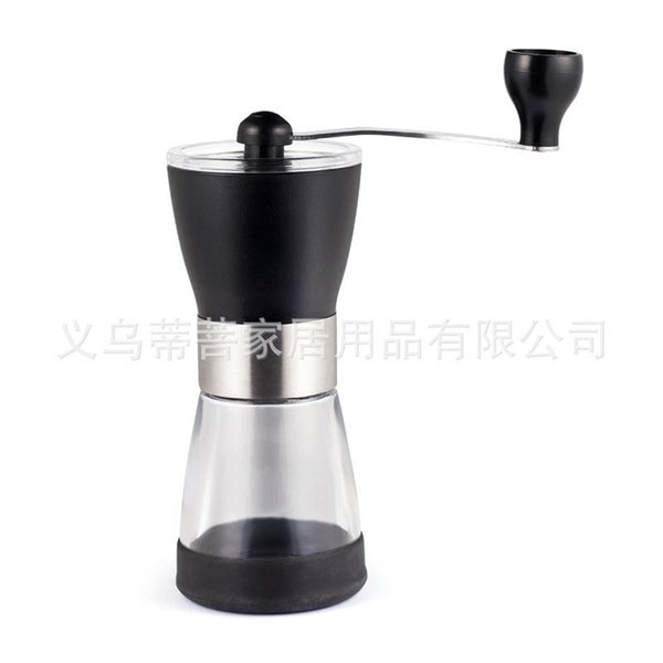 ZX-A73 Coffee Grinder Manual Hand Simple Modern Coffee Beans Grinding Machine Hand Shakes Plastic Glass Coffee Makers