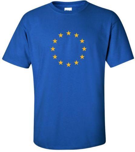 Details zu EU European Union Logo T-shirt FLAG COOL 90s EURO TEE Funny free shipping Unisex