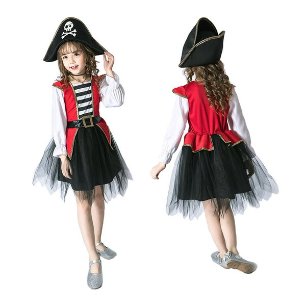 best selling 8 styles Girl purple fairy pirate witch Cinderella princess dress costumes cosplay kids performance clothes party dress clothing A166