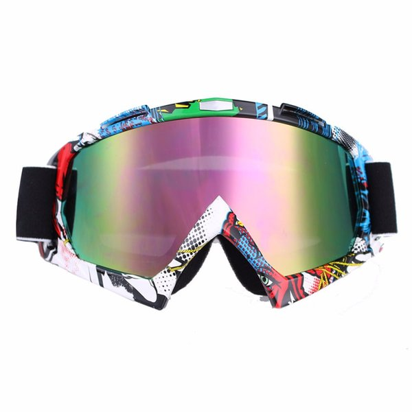 Motocicleta Gafas de gafas de motocross para el casco Carreras Dirt Bike MJ 16 Gafas Clear Tinted Lens Off Road ajustable