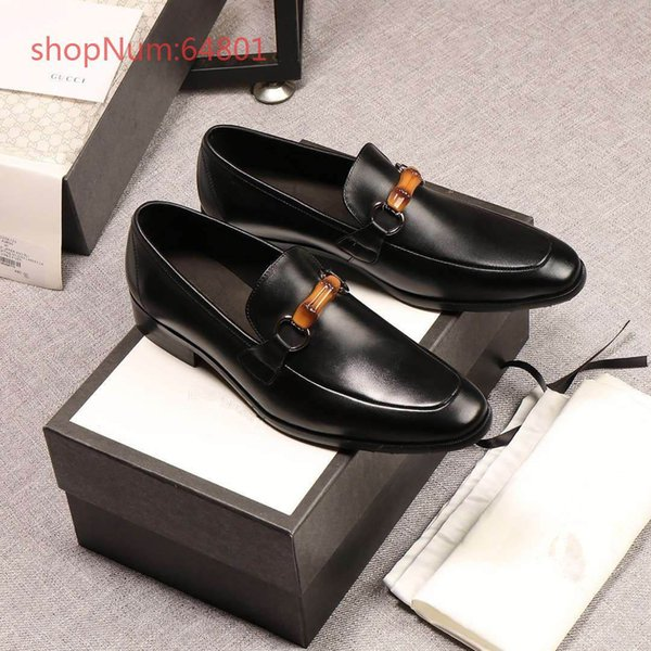 2018 Luxury Brand New Designer Upscale Black Men Business Formal Shoes Genuine Leather Men Dress Shoes With Buckle Office Shoes 38-44