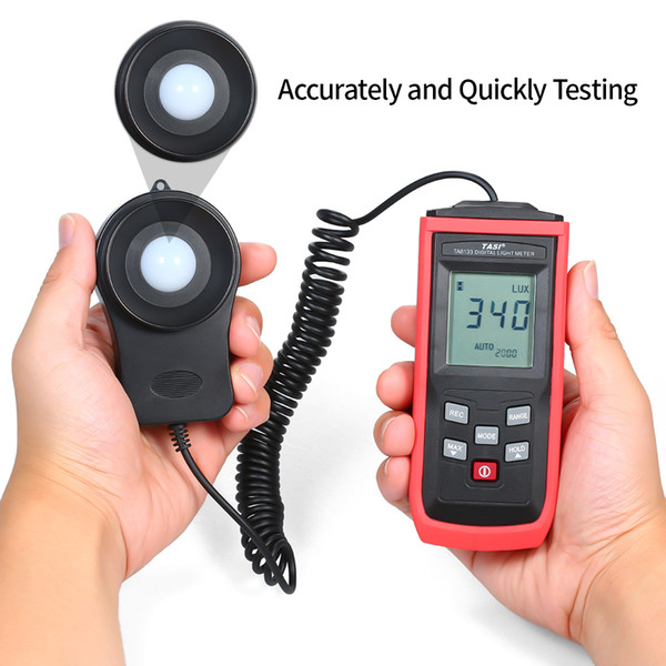 hysical Measuring Instruments Glossmeters TASI Handheld Mini LCD Luminometer Digital Photometer Luxmeter Light 0-199999 Lux Illuminance ...
